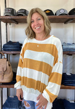 Load image into Gallery viewer, Mustard striped long sleeve