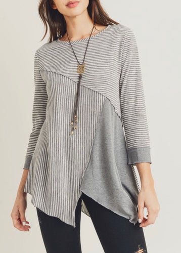 Grey Asymmetrical Stripes