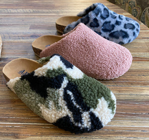 Faux Fur Flat Slide Slippers