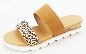Cork Wedge - Cheetah