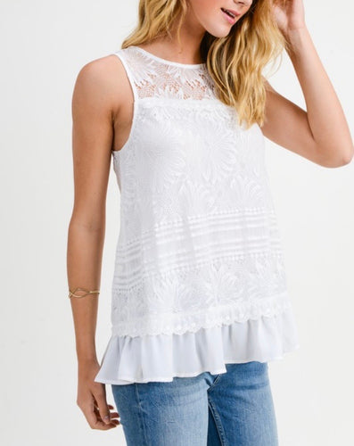 White Lace Sleeveless
