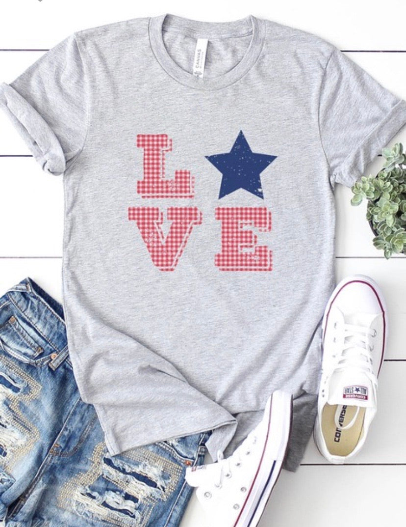 Love Star Graphic Tee