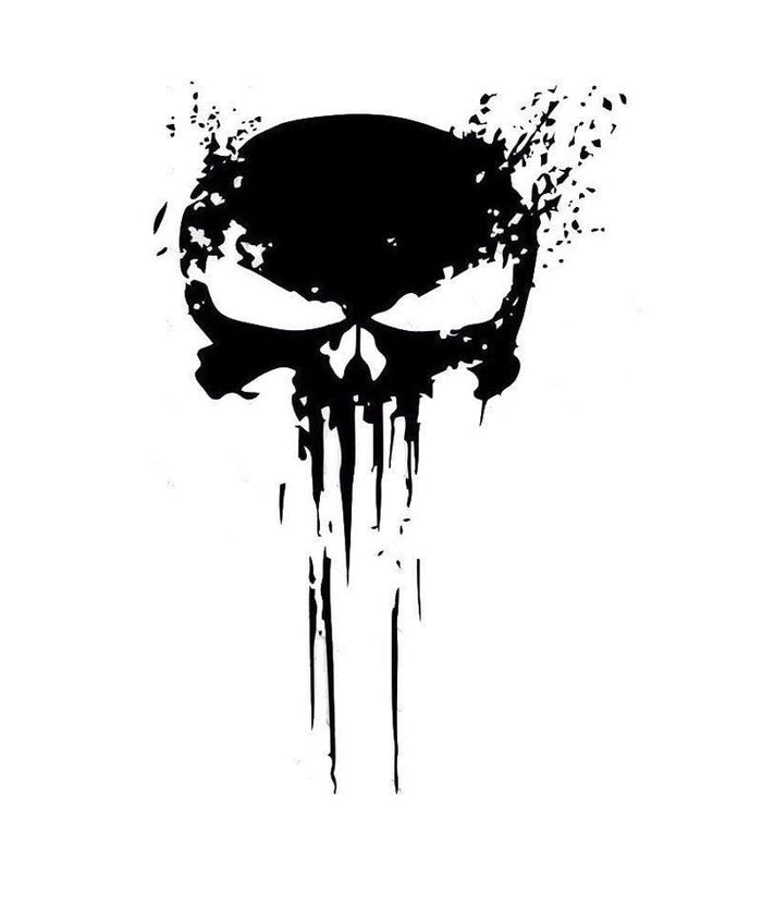 Sticker Tête de Mort Punisher