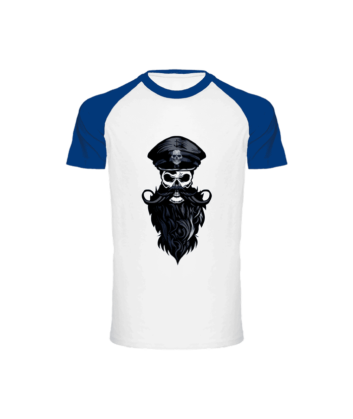 T-shirt Bicolore Tête de Mort<br> Pirate