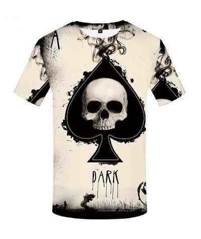 T-Shirt Tête de Mort As de Pic