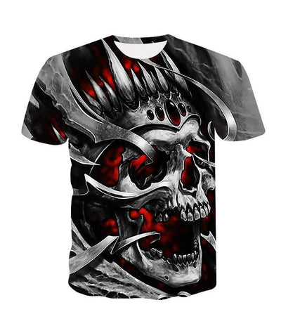 T-Shirt Tête de Mort<br> Dents