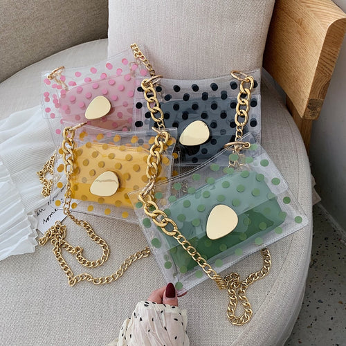 Polka Dot Transparent Bag - LVNGROSE