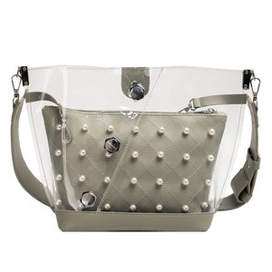 Clear Pearl Shoulder Bag - LVNGROSE