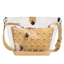 Load image into Gallery viewer, Clear Pearl Shoulder Bag - LVNGROSE