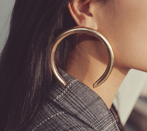 New Moon Statement Earrings - LVNGROSE