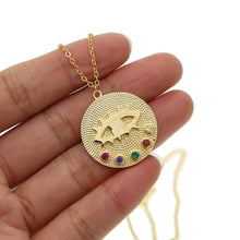 Load image into Gallery viewer, Lucky Eye Coin Necklace - LVNGROSE