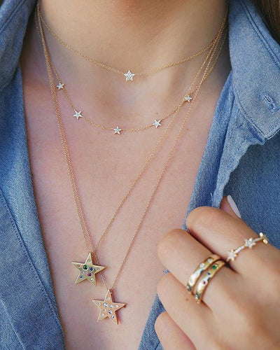 Star Charm Choker Necklace - LVNGROSE