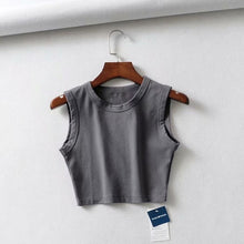 Load image into Gallery viewer, Crop Sleeveless Knit Top - LVNGROSE