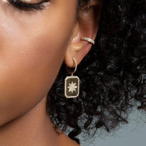 North Star Paved Earrings - LVNGROSE