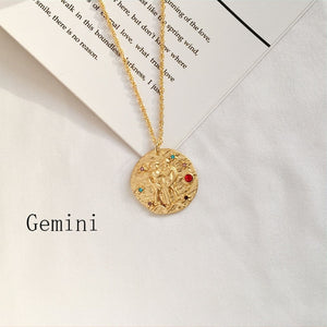 Zodiac Sign Coin Necklace - LVNGROSE