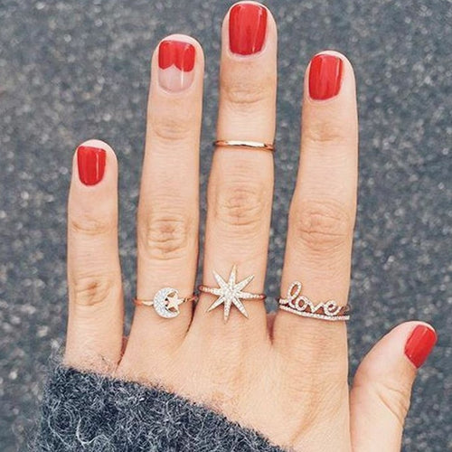 Love Universe Ring Set - LVNGROSE