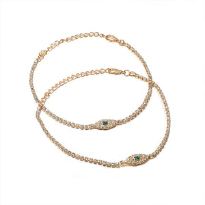 Gold Eye Chain Anklet Set - LVNGROSE