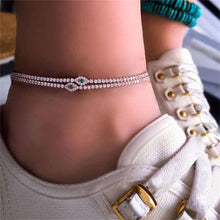 Load image into Gallery viewer, Gold Eye Chain Anklet Set - LVNGROSE