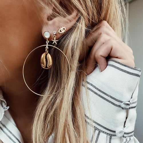 Beach Eye Earrings Set - LVNGROSE