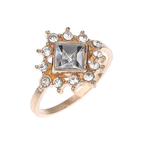 Geometry Gem Crystal Ring Set Fashion - LVNGROSE