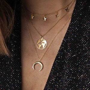 Multi Moon Universe Necklace Set - LVNGROSE