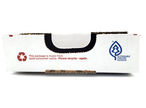 Recyclable boxes made from post-consumer waste