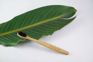 Organic Bamboo Toothbrush with Charcoal Enhanced Bristles - The Sustainable Switch