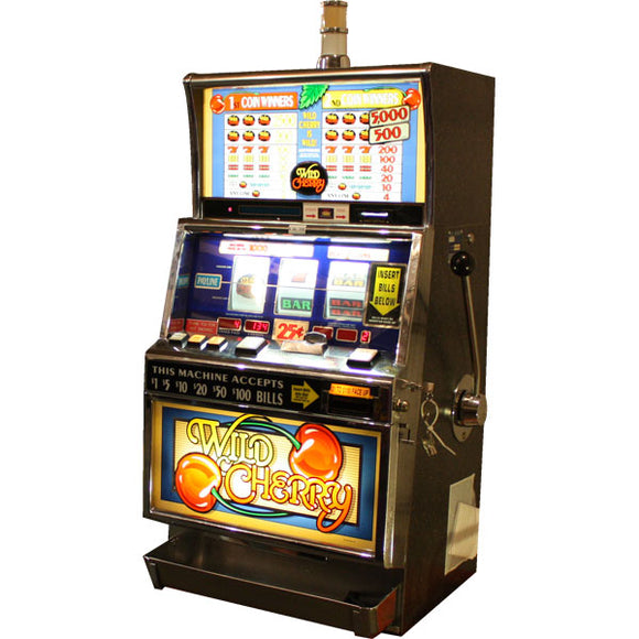 Wild Cherry Slot Machine by BALLY with Dollar Bill Acceptor