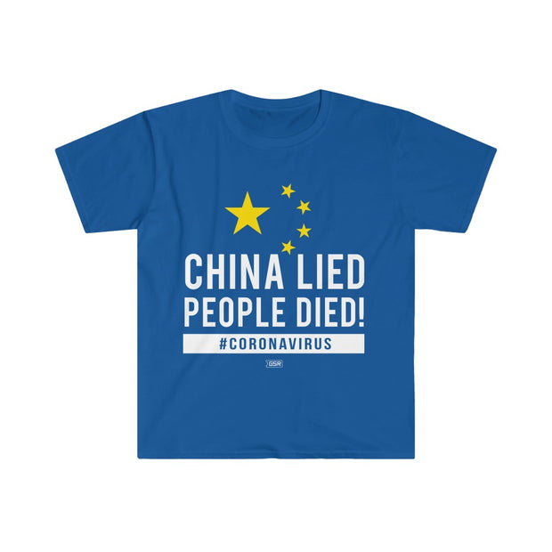 GSR China Lied People Died Mens Tee