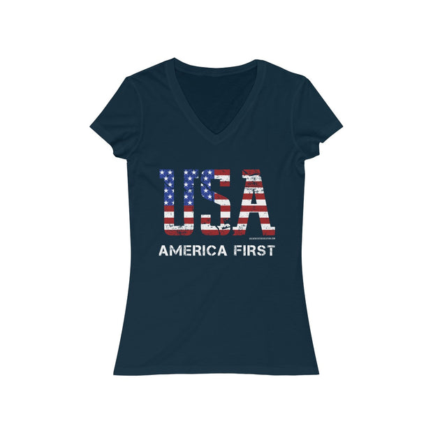 GSR Ladies USA America First V Tee