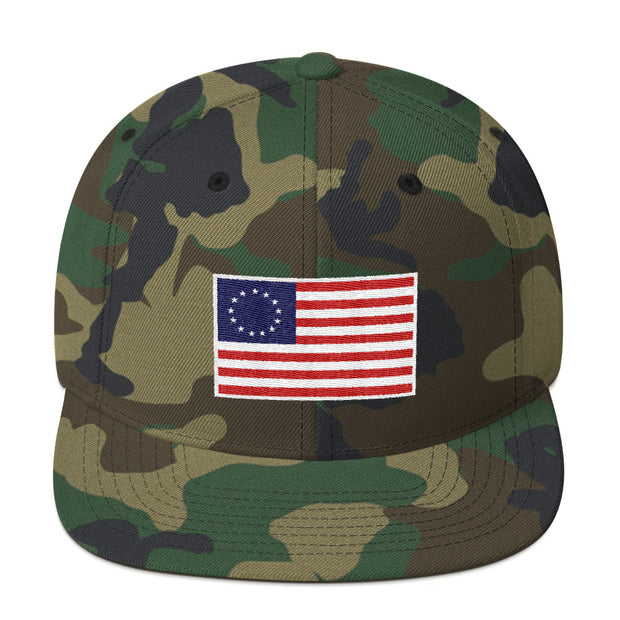 GSR Besty Ross USA Flag Flat Bill Snap Back