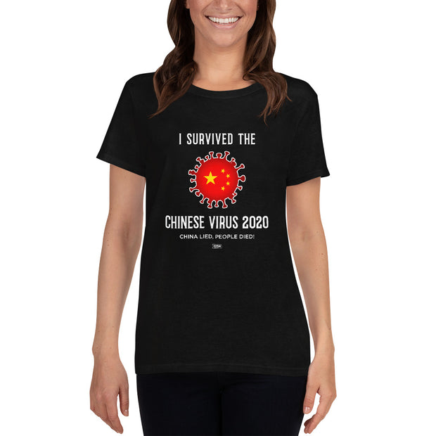 GSR I Survived The Chinese Virus Ladies Tee
