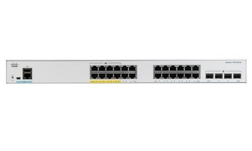 C1000-24FP-4X-L Cisco Catalyst 1000 Switch, 24 Ports PoE+, 370w (New)