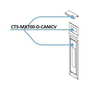 CTS-MX700-D-CAMCV Cisco TelePresence MX700 Cover for Dual Camera Systems (New)