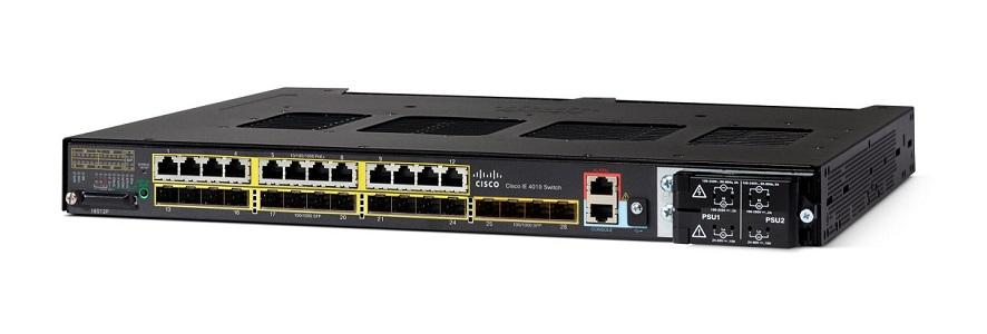 IE-4010-16S12P Cisco Industrial Ethernet 4010 Switch, 12 GE SFP/12 GE PoE+/4 GE SFP Uplink Ports (New)