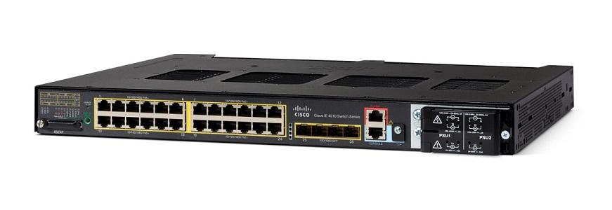 IE-4010-4S24P Cisco Industrial Ethernet 4010 Switch, 24 GE PoE+/4 GE SFP Uplink Ports (New)