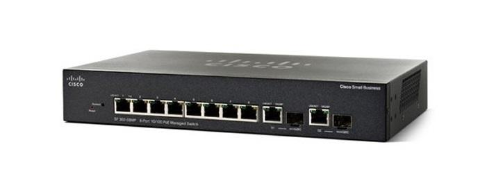 SF352-08-K9-NA Cisco Small Business SF352-08 Managed Switch, 8 10/100 and 2 Gigabit SFP Combo Ports (New)