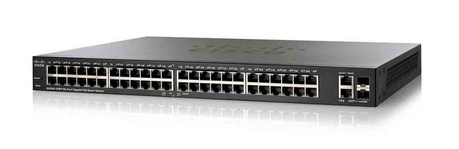 SG200-50FP-NA Cisco SG200-50FP Small Business Smart Switch, 48 Gigabit/2 Combo Mini GBIC Ports, PoE (New)