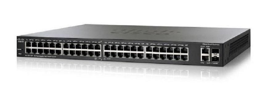 SG250-50-K9-NA Cisco SF250-50 Smart Switch, 48 Gigabit/2 SFP Combo Ports (New)