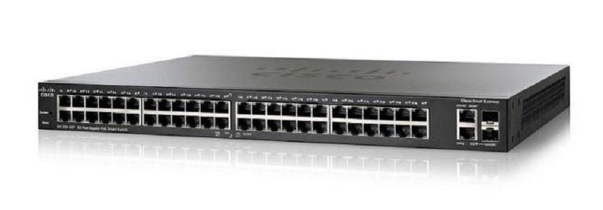 SG250-50HP-K9-NA Cisco SF250-50HP Smart Switch, 48 Gigabit/2 SFP Combo Ports, 192w PoE (New)