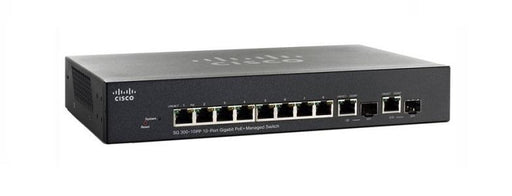 SG300-10PP-K9-NA Cisco Small Business SG300-10PP Managed Switch, 8 Gigabit/2 Mini GBIC Combo Ports, 62w PoE (New)