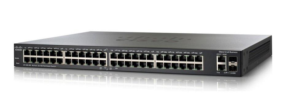 SLM248GT-NA Cisco SF200-48 Small Business Smart Switch, 48 Port 10/100 (New)