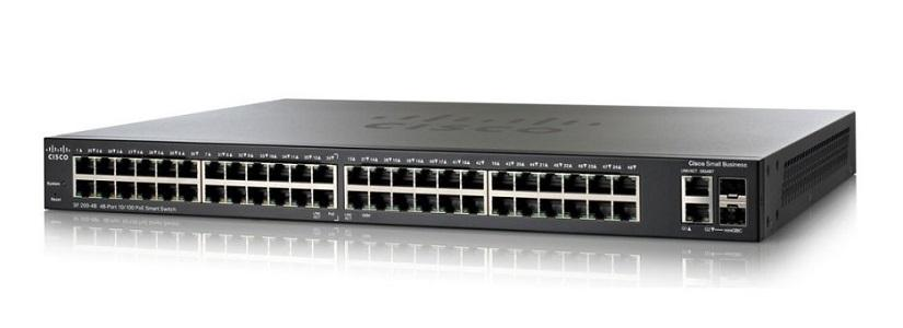 SLM248PT-NA Cisco SF200-48P Small Business Smart Switch, 48 Port 10/100, PoE (New)