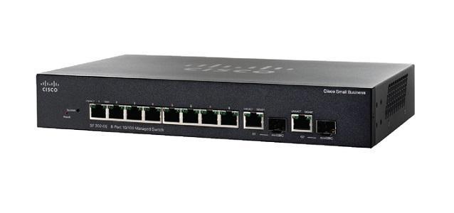 SRW208G-K9-NA Cisco Small Business SF302-08 Managed Switch, 8 10/100 and 2 Combo Mini GBIC Ports (New)
