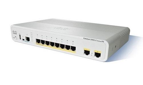 WS-C2960CPD-8TT-L Cisco Catalyst 2960C Network Switch (New)