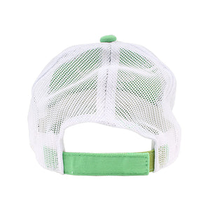 iFish Unstructured Mesh-Back Trucker Logo Hat