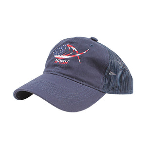 USA Logo Unstructured Mesh-Back Trucker Hat