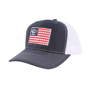 Patriotic Flag Patched Mesh-Back Trucker Hat