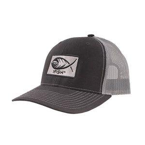 iFish Rectangle Logo Patched Mesh-Back Trucker Hat