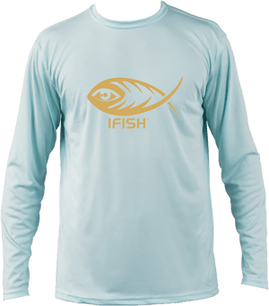 IFISH long sleeve performance shirt with black logo